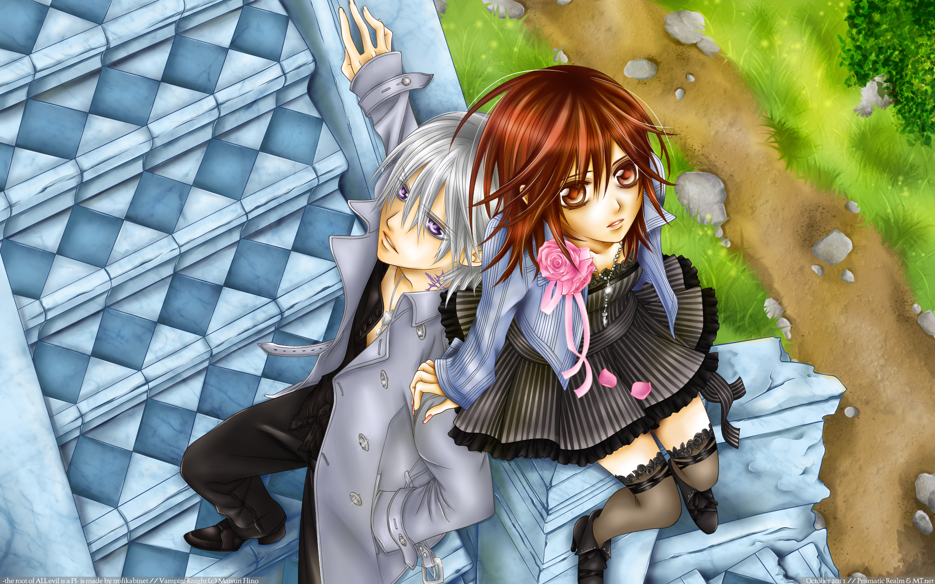 Vampire Knight Wallpaper: -the root of ALL evil is a PI ...