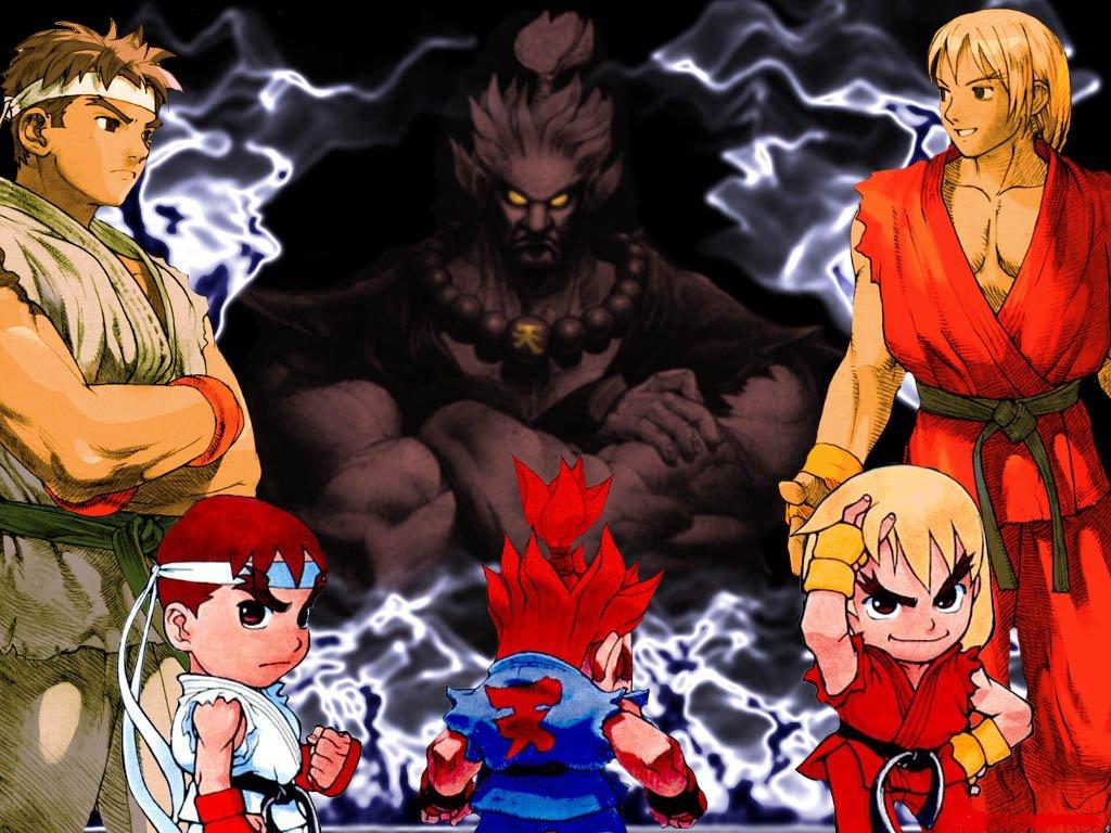 Street Fighter Wallpaper Akuma Ryu Ken Minitokyo