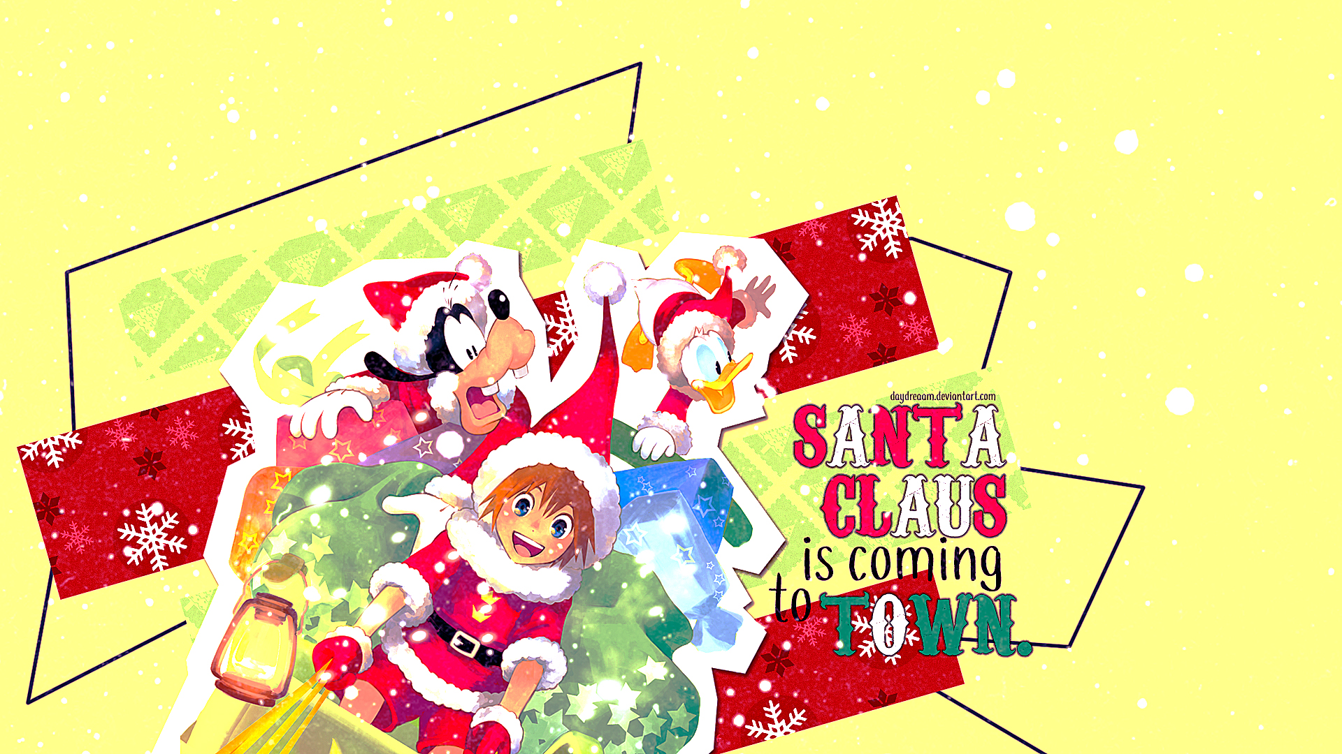 Kingdom Hearts Wallpaper: Santa Claus is Coming to Town. - Minitokyo