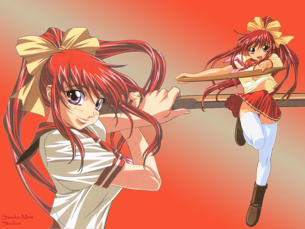 High School Samurai Girl Anime Girl Real Bout High School