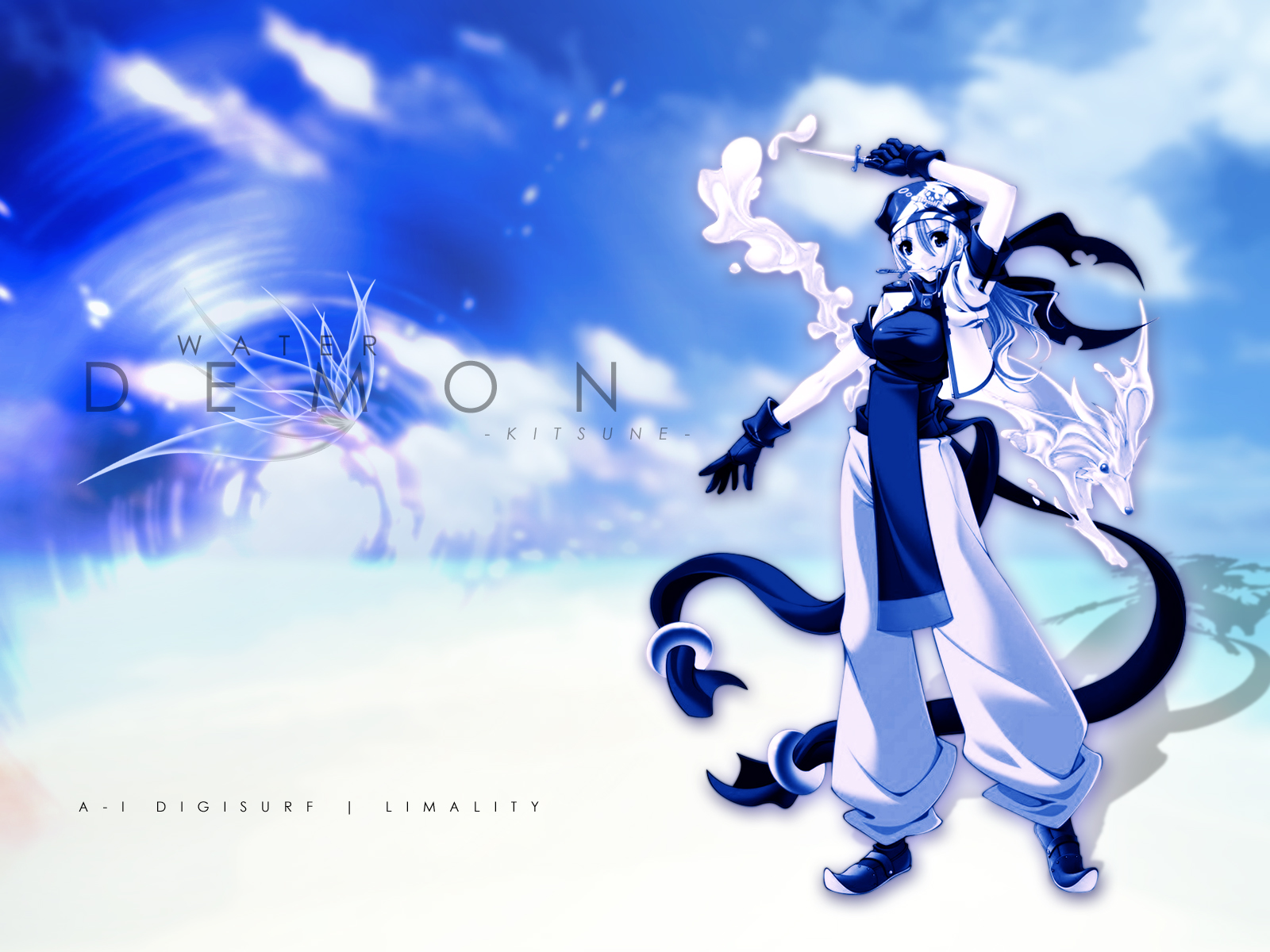anime wallpaper water demon minitokyo