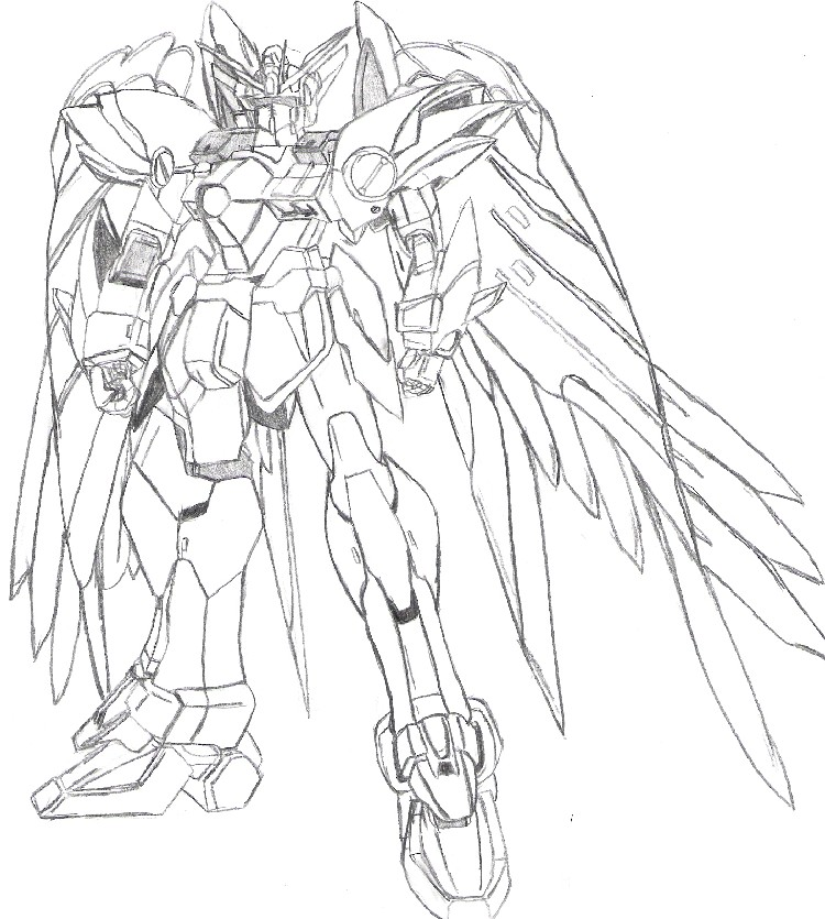 Mobile suit gundam wing free coloring pages for Gundam wing coloring pages