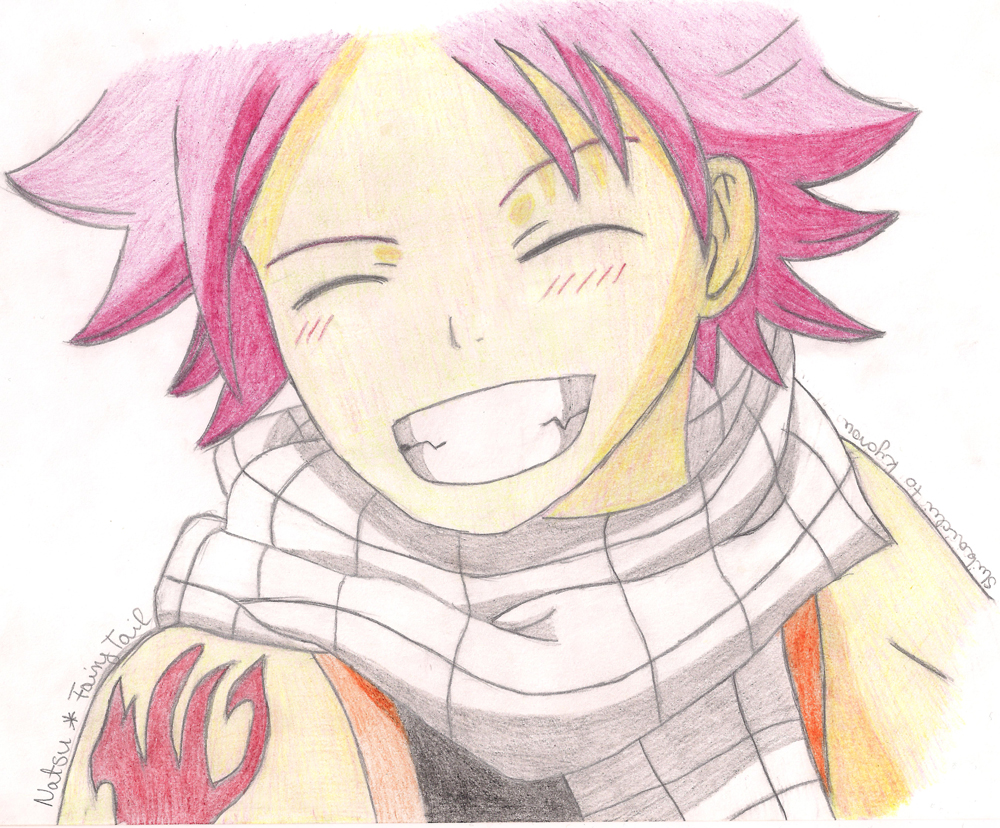 Fairy tail natsu smile