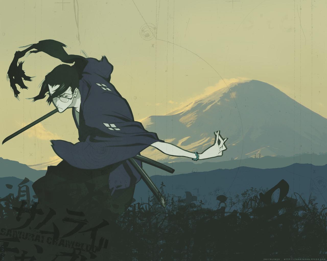 Samurai Champloo Wallpaper: Jin at Fuji - Minitokyo