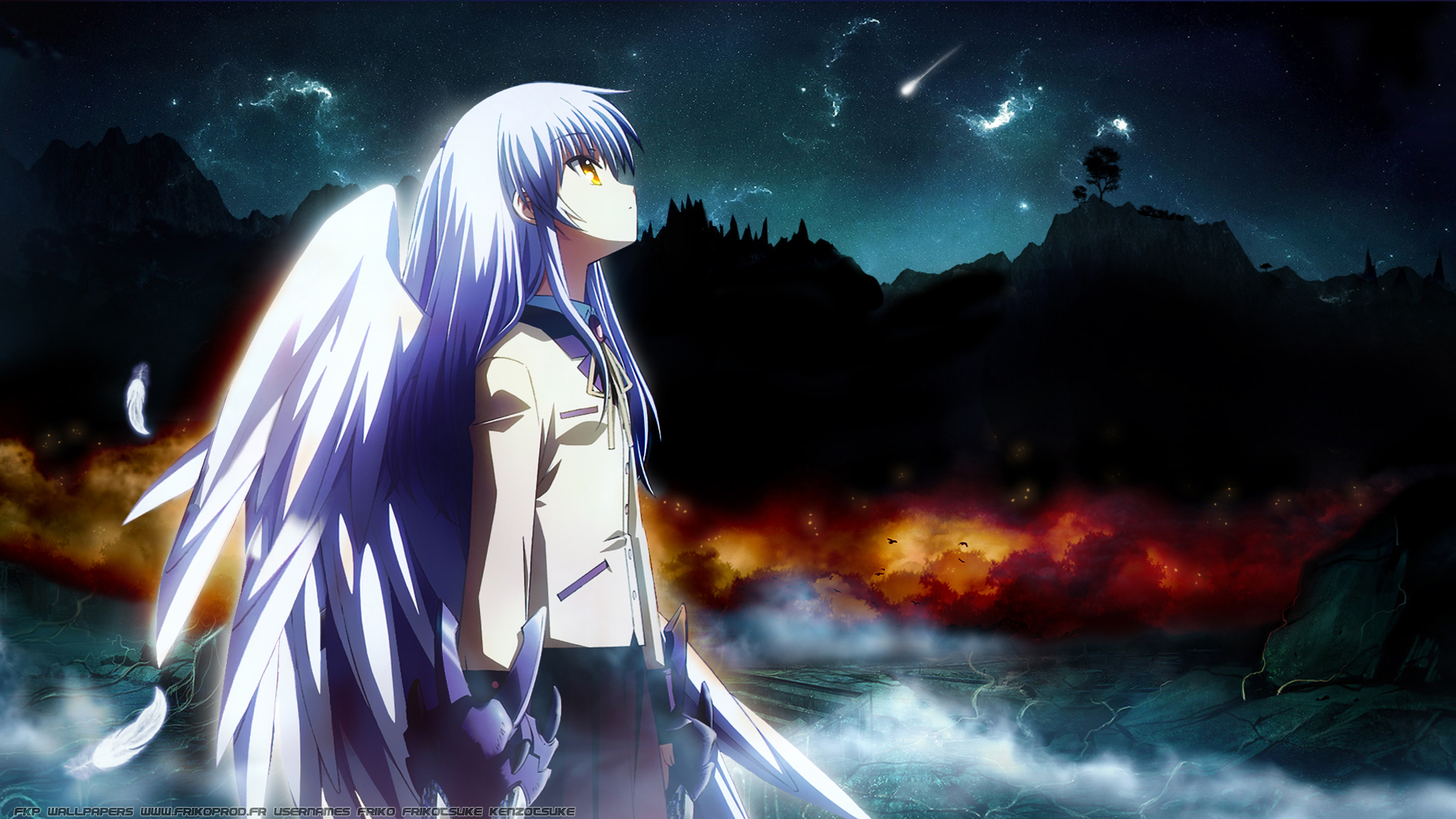 Angel Beats! Wallpaper: <-Lost in thought-> - Minitokyo