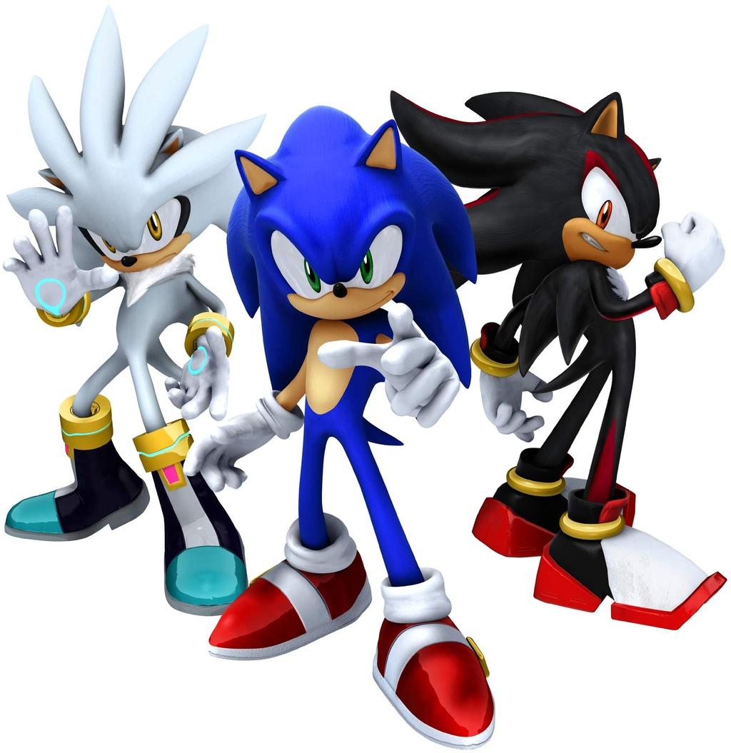 Sonic Series Sonic Shadow And Silver Minitokyo