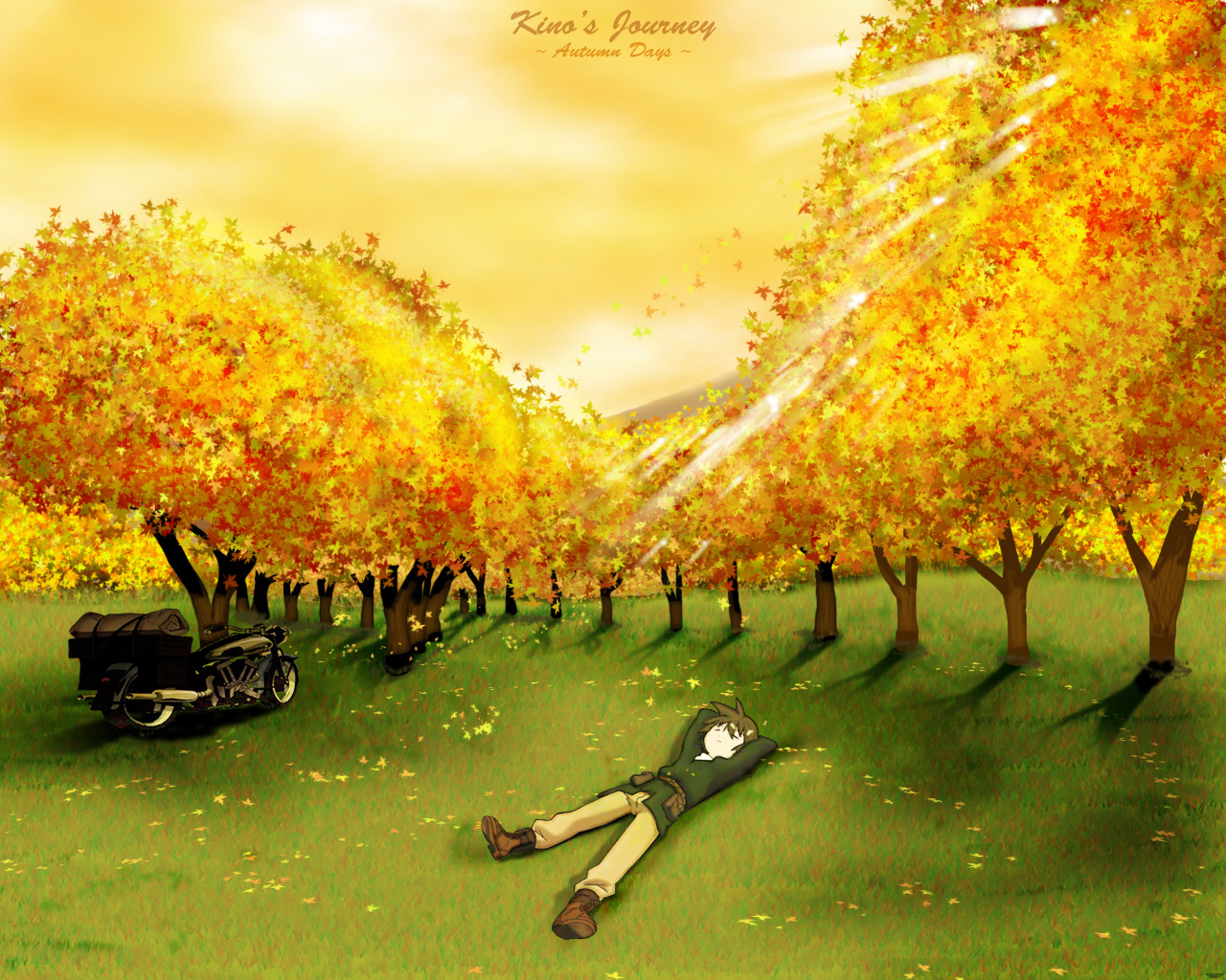 Kino No Tabi Wallpaper Kinos Journey Autumn Days Minitokyo