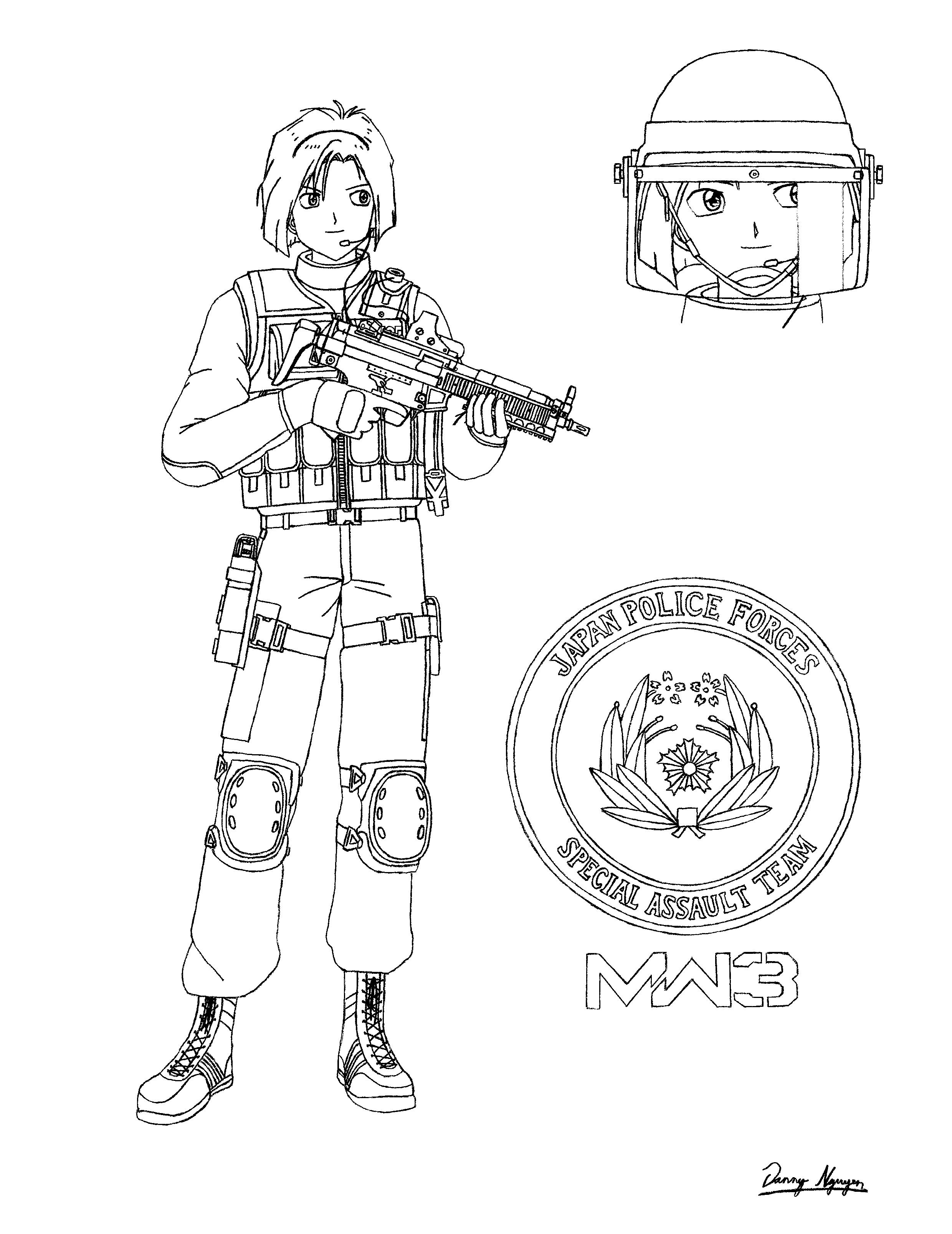 Coloring Pages Of Advanced Warfare : Free advance warfare coloring pages