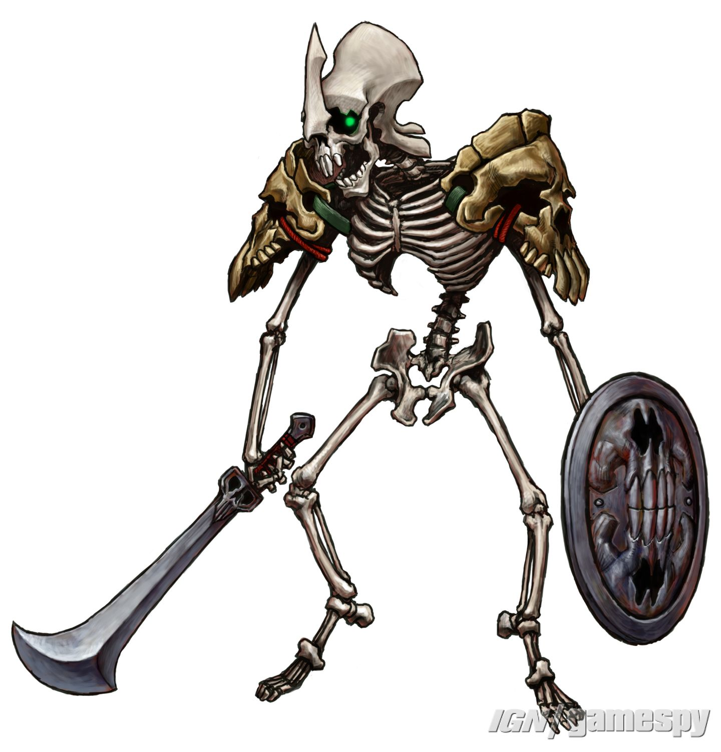 The Legend Of Zelda Skeleton Warrior Minitokyo Twilight Princess Skeleton