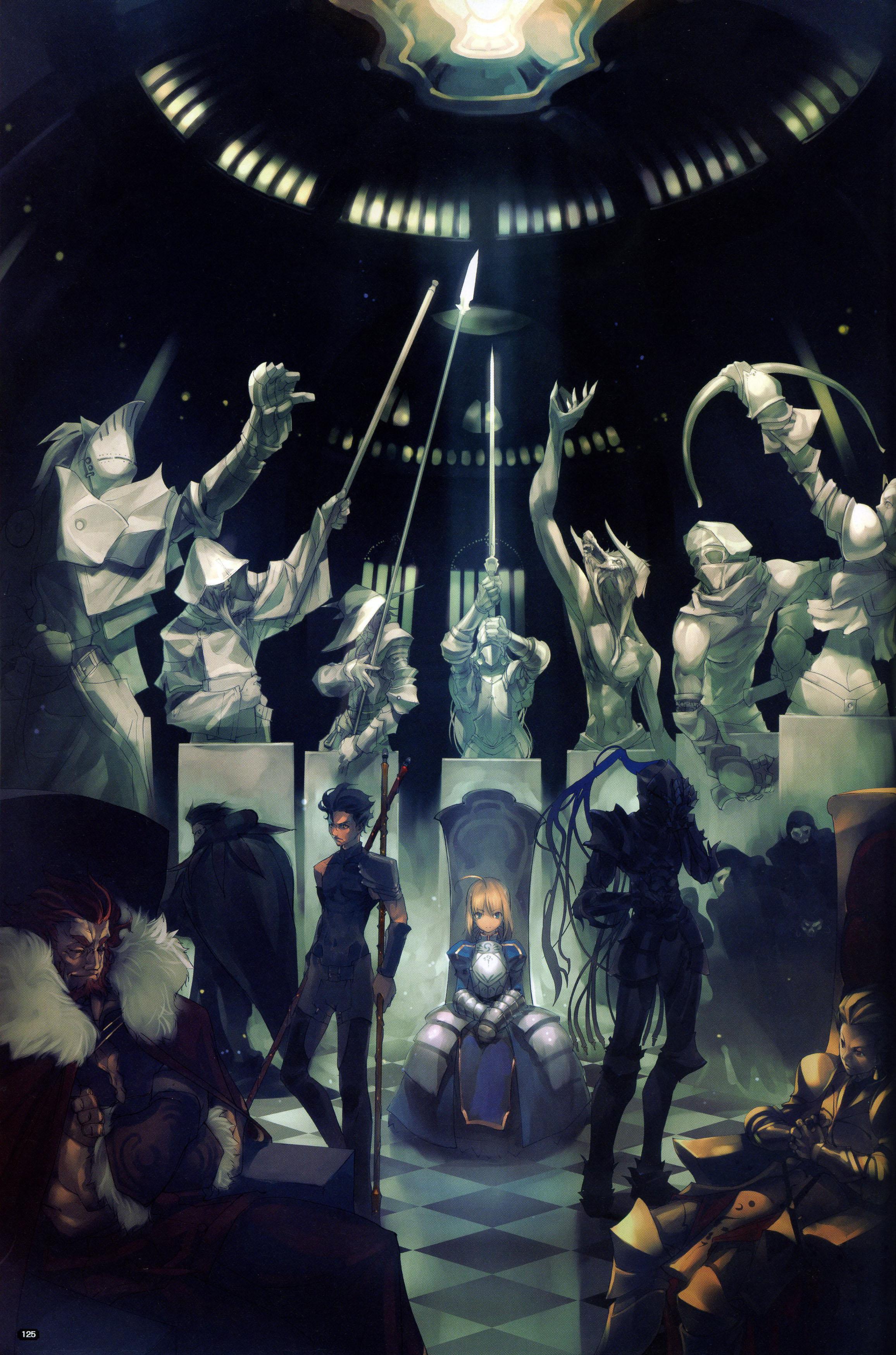 Gilgamesh Fate Stay Night Wallpaper And Scan Gallery Minitokyo