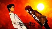 Kurisu and Rintarou by DOOOODY