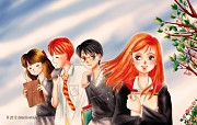 Ginny Weasley and The Trio by detectiveblue