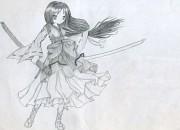 A girl with a sword by aspirine008