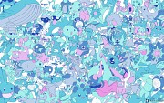 Every water pokemon! by chubbykitty