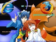 IE VS FIREFOX by minianimegirl