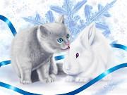 Symbol 2011 - Cat and Rabbit by marjaz