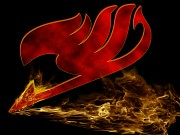 hd 	fairy tail wallpaper  - red flame by merkv